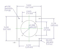 Fan mounting plate drawing