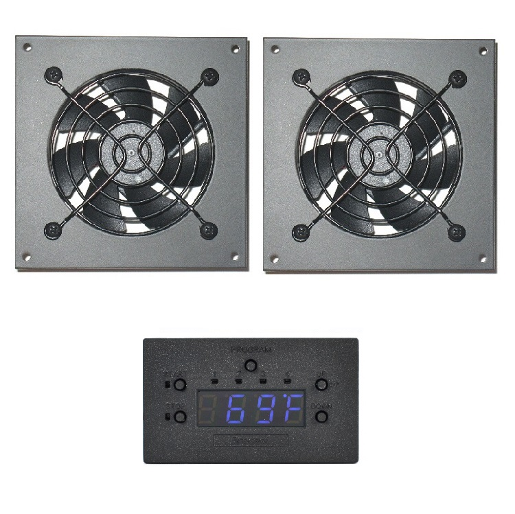 Temperature Controlled Variable Speed Silent Fan System. Procool AVX 280T