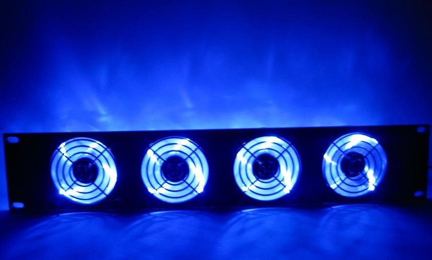 Procool Sl480b 2u Rack Mount Cooling Fan 4 Led Fans Ebay