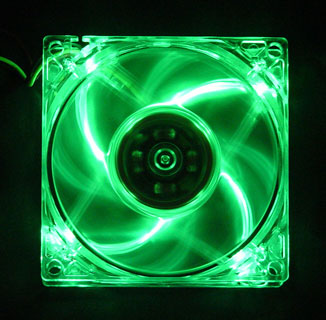 SL80G Green LED 80mm Fan